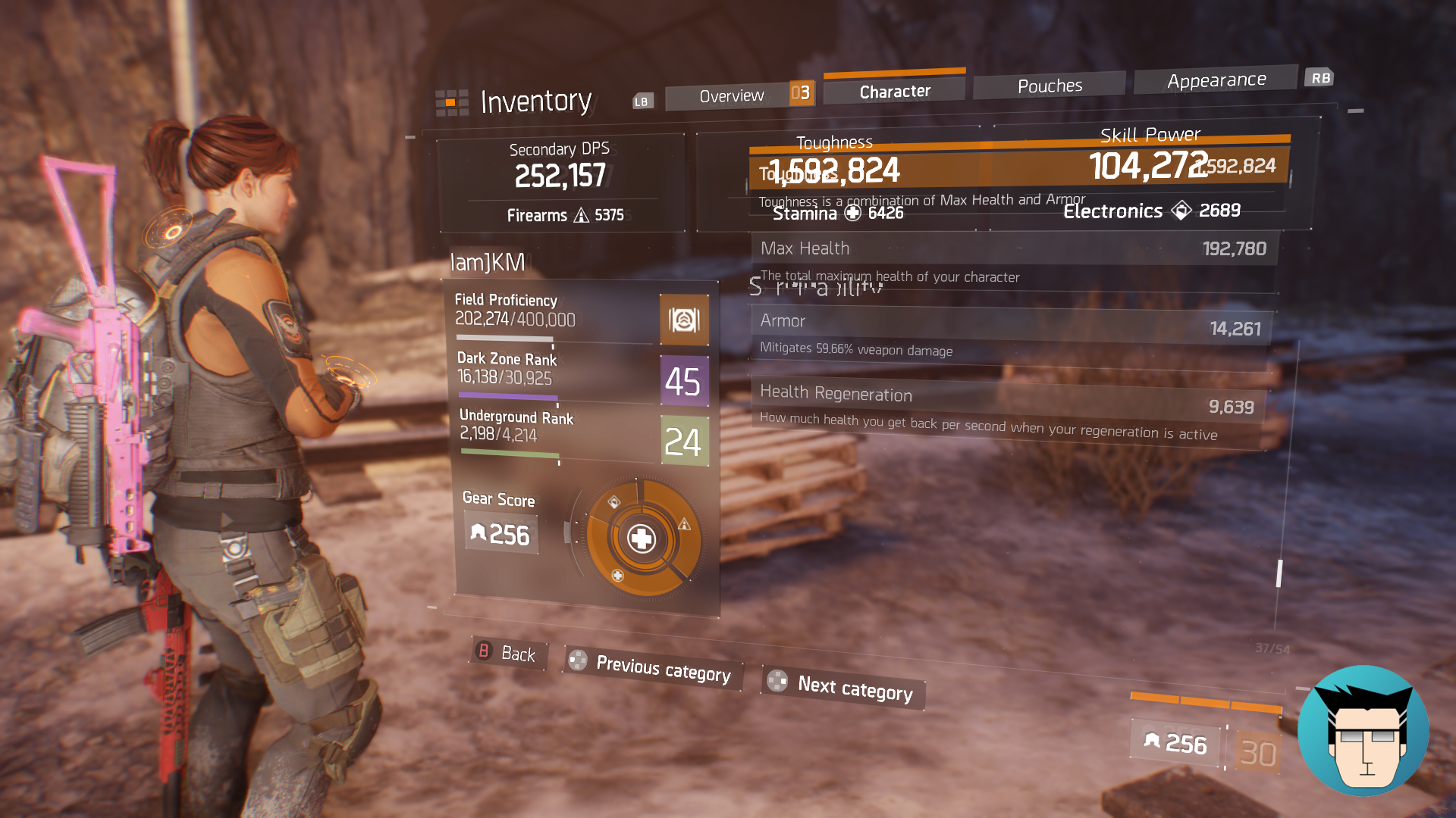 Overview | 1.59m Toughness, Armor Mitigation at 59.66%