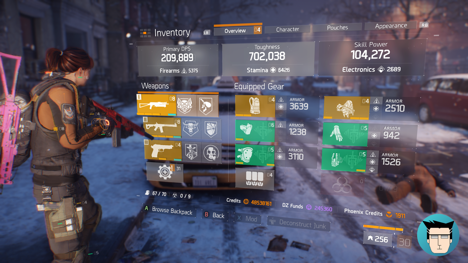 Overview | 700k Toughness, 2 skills on cooldown