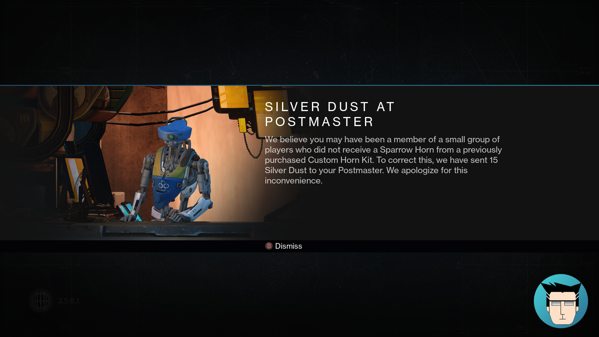 Free Silver Dust | Aw, how nice of you bungie!