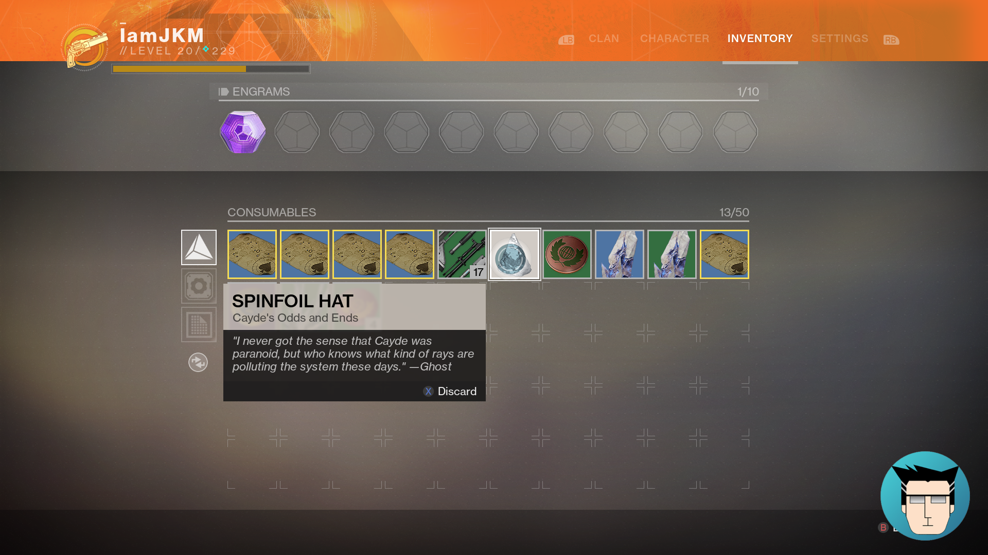 Cayde's Odds and Ends | Spinfoil Hat